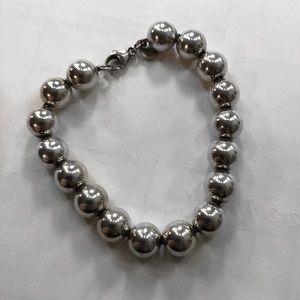 Tiffany & Co 10mm Sterling Silver Beaded Bracelet
